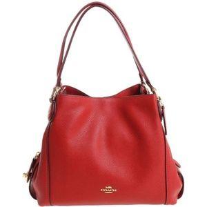 Coach Edie 31 Shoulder Bag Hobo Leather Jasper red